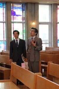 左:飽田高校長 右:渡邊充副学長